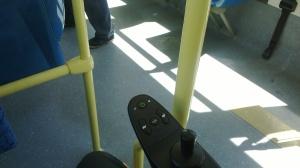 Zona reservada para sillas