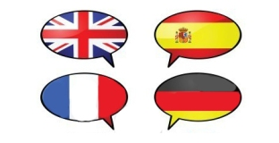 Spanish/English/German/French