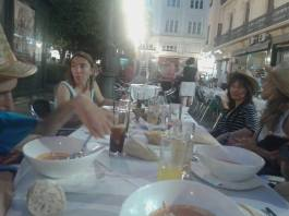 Cenando en P. Tendillas