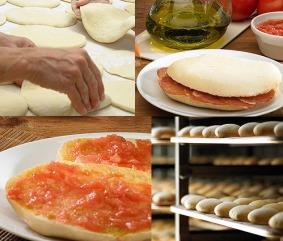 Tipicos Molletes de pan.